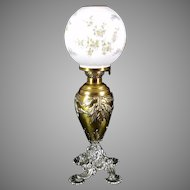 Miniature Banquet Oil Lamp c. 1890s  Plume & Atwood