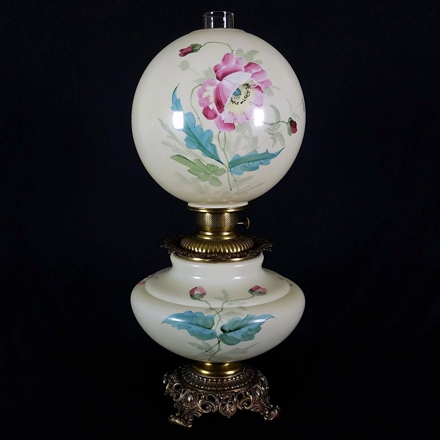 Gone With The Wind Oil Lamp C 1890s Poppy Dixon S