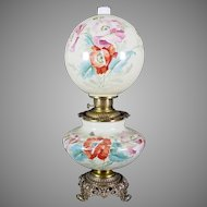 Gone with the Wind Oil Lamp c. 1890s  Poppy