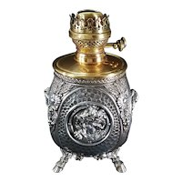 Oil Lamp c. 1890s Electrified