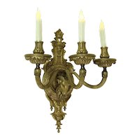 Victorian Ram's Head Candle Sconce    c. 1890