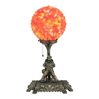 Deco Clown Lamp with Art Glass Shade         c.1930's