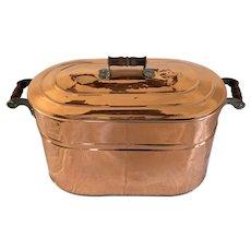 Antique Large Copper Boiler w Lid   c. 1900