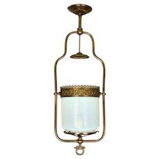 Opalescent Hall Lantern      c. 1880