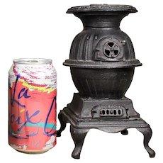 "Toy Pot Belly Stove "" BLAZE "" c. 1900"