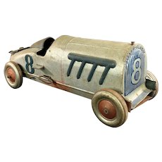 "Toy Chein Hercules ""Silver Flash"" Racer   c.1930"