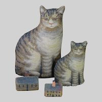"""Small Printed Cloth Cat (2.5"""" tall - perfect size for a doll's accessory)"""