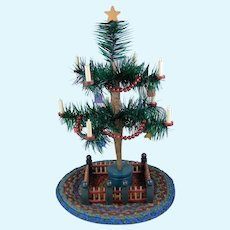 "Tiny Doll Size Feather Tree 8"" Tall"