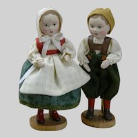 """Tiny 3.5"""" tall Set of Hansel and Gretel by Gail Wilson"""
