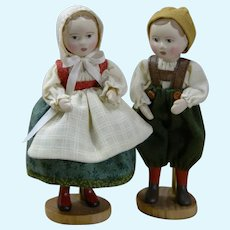 "Tiny 3.5"" tall Set of Hansel and Gretel by Gail Wilson"