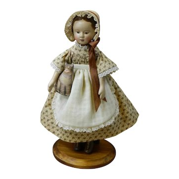 "6.5"" tall Izannah Walker Style Doll by Gail Wilson"