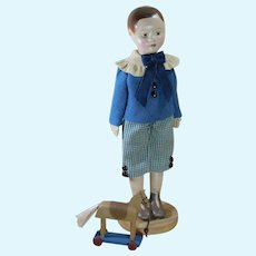 """8"""" Tall Izannah Walker Style Boy Doll with Horse Pulltoy"""