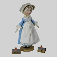 """Tiny 3.5"""" tall Country Queen Anne by Gail Wilson"""