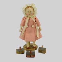 """Tiny 3.5"""" tall Maggie Bessie Doll by Gail Wilson"""