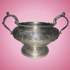 Georgian London Sterling Silver Bowl W Handles Joseph Angell 1816