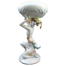 Art Deco Wien Augarten Porcelain Figurine Hertha Bucher Wiener Werkstatte Artist