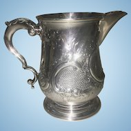 George III London Sterling Silver Repousse Pitcher Or Creamer
