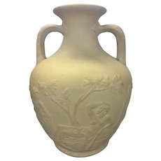 Antique English Caneware Stoneware Neo Classical Relief Portland Vase PS&W CO