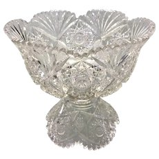 Hawkes ABP American Brilliant Cut Glass Punch Bowl & Base