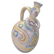 Guido Gambone Italy Art Pottery Ewer Pitcher Jug Eames Era