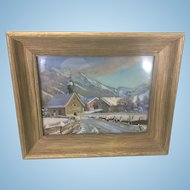 Alfred Hilpert  (1878 - 1933) German Artist Painting Framed 2-D Landscape Rubi Allgau