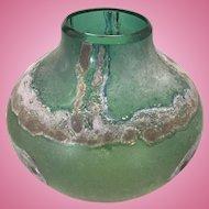 Vintage Mid Century Modern Barbini Murano Scavo Art Glass Vase Eames Era