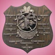 1924 Camp Kagawong Award Plaque Boys Camp Pewter Native American Ontario Canada