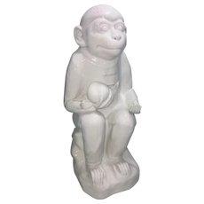 Vintage Chinese Blanc De Dehua Chinese Porcelain Monkey W Peach