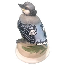 Boehm Bisque Porcelain Baby Blue Jay Bird Figurine