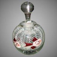 Peet Robinson Art Glass Perfume Scent Bottle Fish Aquarium 1982
