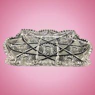 Antique ABP American Brilliant Pattern Cut Glass Ice Cream Tray