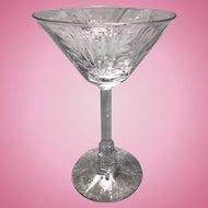 7 1930's Art Deco Libbey Nash Lucerne Skyscraper Machine Age Glass Stems Martini