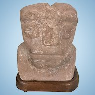 Pre Columbian Carved Stone Head Estate Of Ambassador Raul Hector Castro Gov Arizona