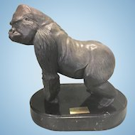 Robert Berry Silverback Bronze Gorilla Ape Sculpture San Diego Zoo Ltd Ed