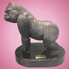 Robert Berry Silverback Bronze Gorilla Ape Sculpture San Diego Zoo Ltd Ed
