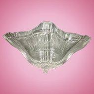 Frederick Carder Steuben Glass Crystal Freeform Grotesque Handkerchief Bowl