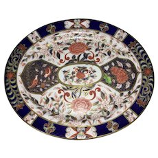 Antique Royal Crown Derby Imari Porcelain Platter 1882
