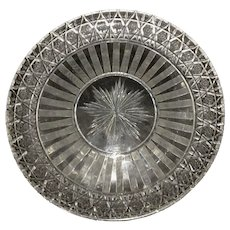Antique Hawkes ABP American Brilliant Pattern Cut Glass Tray