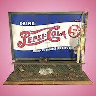 Listed Artist Michael Garman Cityscape Roadside Billboard Pepsi Cola Diorama Sculpture Advertising