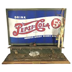 Listed Artist Michael Garman Cityscape Roadside Billboard Pepsi Cola Diorama Sculpture Advertising
