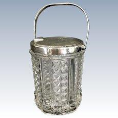 Vintage Tiffany & Co Sterling Silver Glass Mechanical Jam Jar Jelly