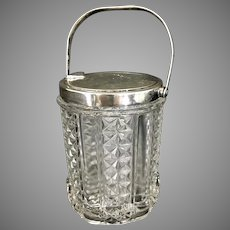 Vintage Tiffany & Co Sterling Silver Glass Mechanical Jam Jar Jelly
