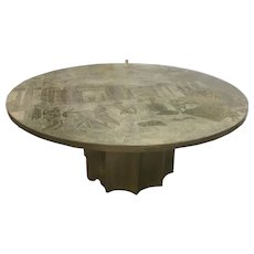 Bronze Pewter Kelvin Philip Laverne Odyssey Coffee Table Mid Century Modern Eames Era
