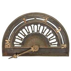 Art Deco Cast Iron Bronze Elevator Floor Indicator W Arrow