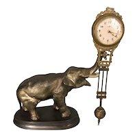 Vintage Metal 1950's Era Meiko Elephant Swing Swingers Mystery Clock Works