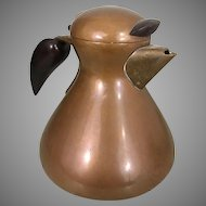 Karl Hagenauer Copper Brass Wood Tea Coffee Pot Vienna Werkstatte Art Nouveau Crafts