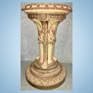Very Rare Royal Worcester Jardiniere Planter Pedestal Base Stand Paw Feet 1898
