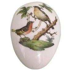 Herend Porcelain Rothschild Birds Egg Trinket Bonbon Box 6053
