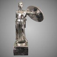 Equitable Life Insurance Silvered Bronze Art Deco 1939 NY Worlds Fair Sculpture JQ Adams Ward