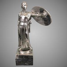 Equitable Life Insurance Silvered Bronze Art Deco 1939 NY Worlds Fair Sculpture JQ Adams Ward